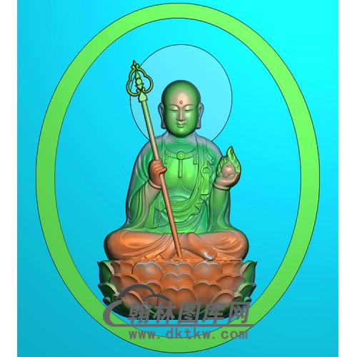 地藏佛精雕图(DZW-032)