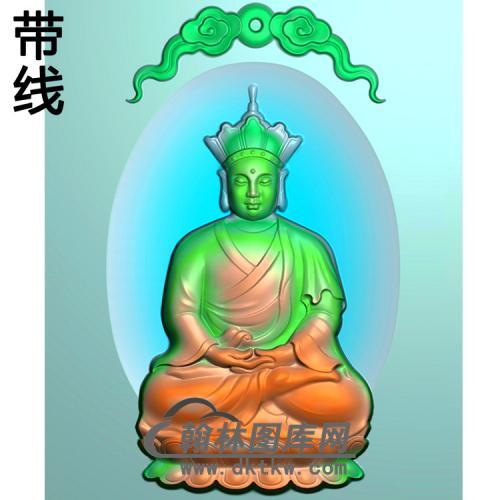 地藏佛唐僧46牌挂件带线精雕图(DZW-018)