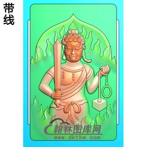 不动明王精雕图(DMW-010)
