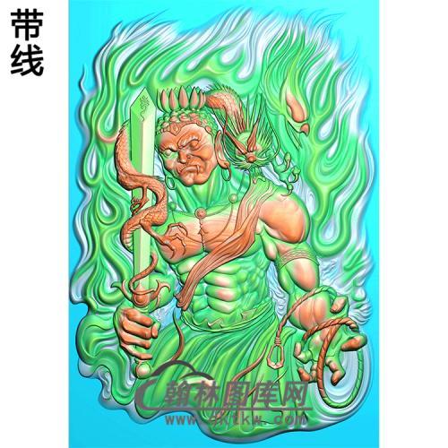 不动明王精雕图(DMW-011)