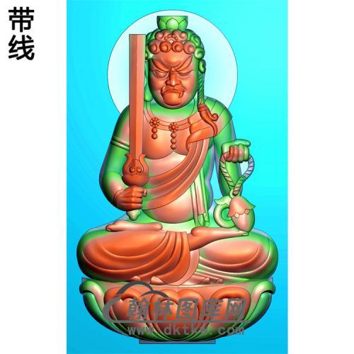 不动明王精雕图(DMW-012)