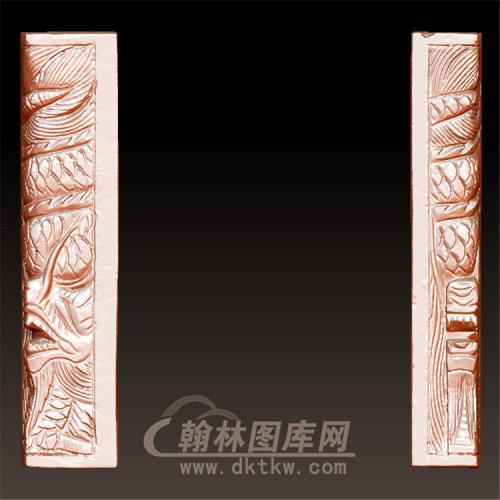 龙柱立体圆雕图(YML-32)