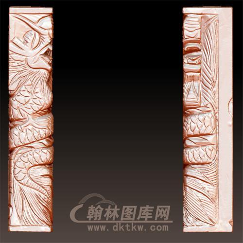 龙柱立体圆雕图(YML-33)
