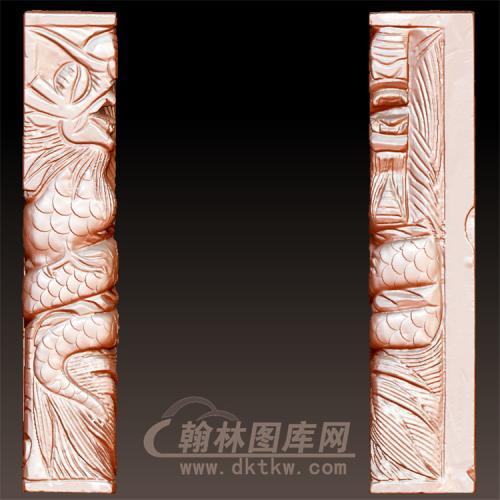 盘龙柱立体圆雕图(YML-40)