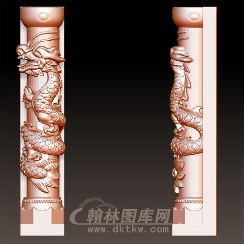盘龙柱立体圆雕图(YML-42)