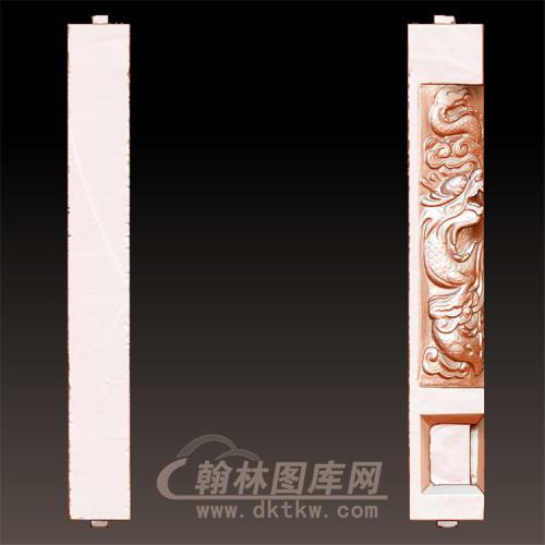 龙柱立体圆雕图(YML-43)