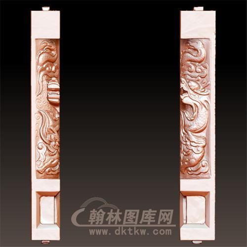 龙柱立体圆雕图(YML-44)