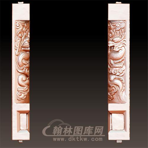 龙柱立体圆雕图(YML-45)