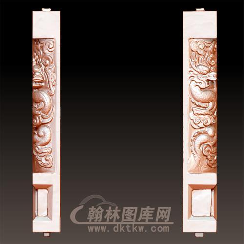 龙柱立体圆雕图(YML-46)