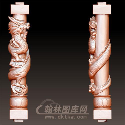 盘龙柱立体圆雕图(YML-50)