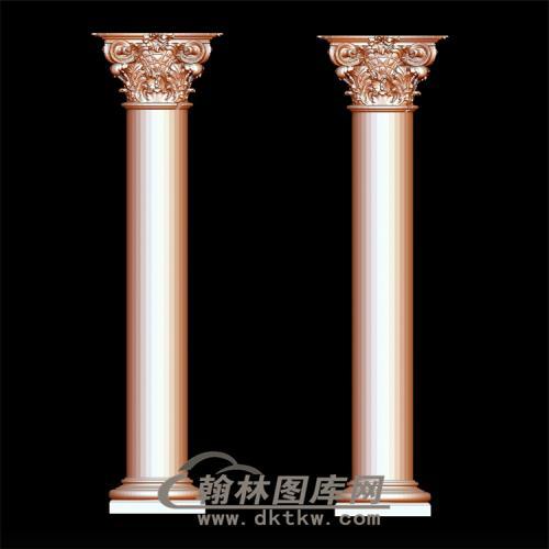 罗马柱立体圆雕图(LMZ-002)