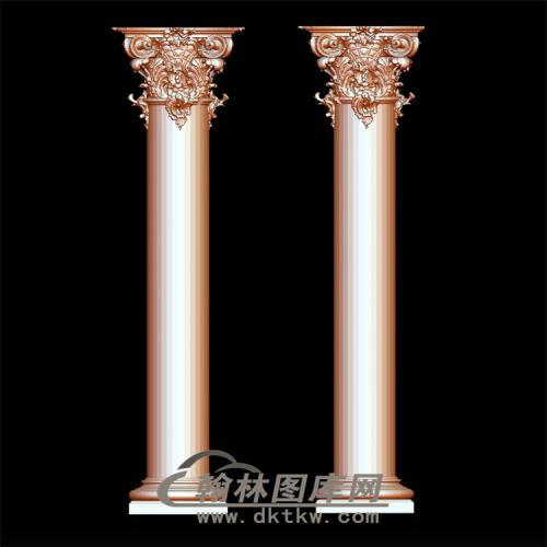 罗马柱立体圆雕图(LMZ-003)