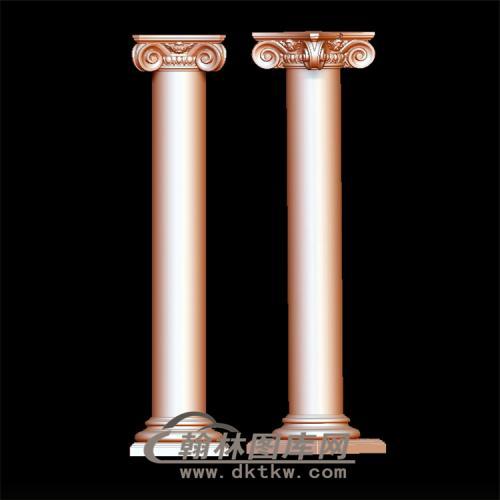 罗马柱立体圆雕图(LMZ-004)