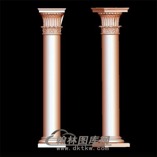 罗马柱立体圆雕图(LMZ-005)