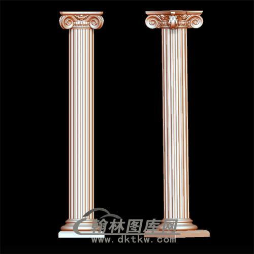 罗马柱立体圆雕图(LMZ-008)
