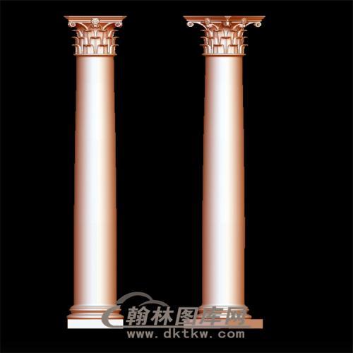 罗马柱立体圆雕图(LMZ-009)