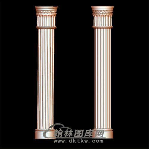 罗马柱立体圆雕图(LMZ-011)