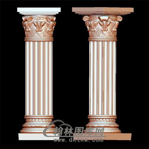 罗马柱立体圆雕图(LMZ-012)
