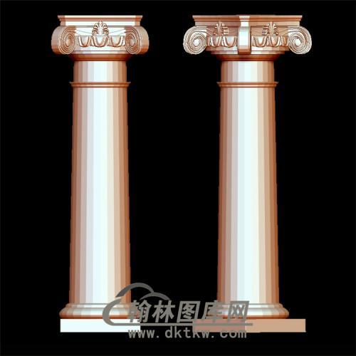 罗马柱立体圆雕图(LMZ-014)