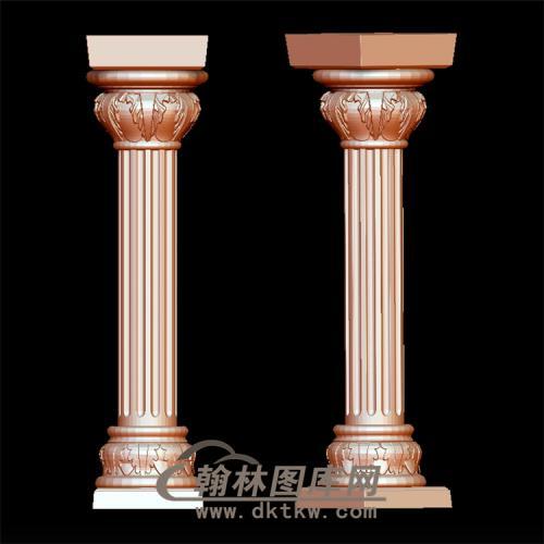 罗马柱立体圆雕图(LMZ-015)