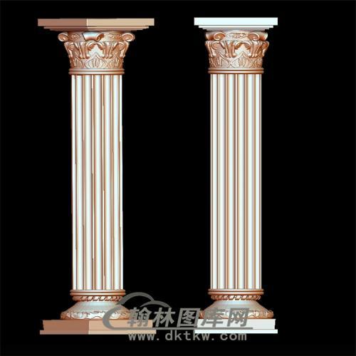 罗马柱立体圆雕图(LMZ-016)