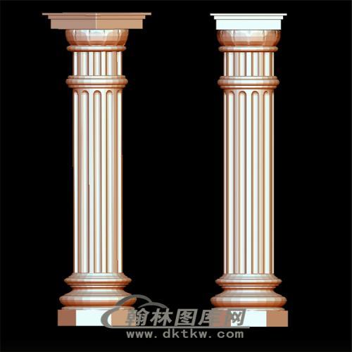 罗马柱头立体圆雕图(LMZ-019)