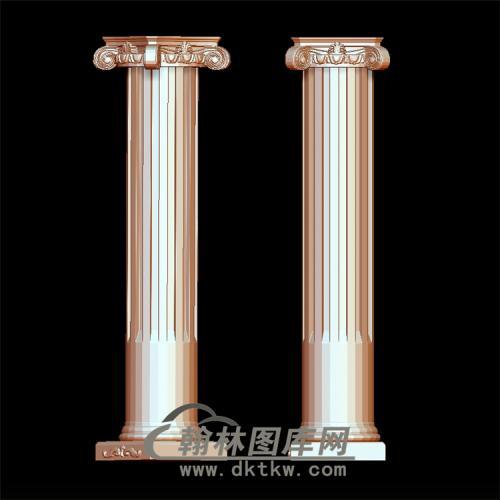 罗马柱头立体圆雕图(LMZ-021)