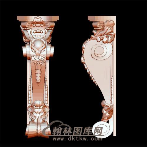 壁炉罗马柱头立体圆雕图(LMZ-022)