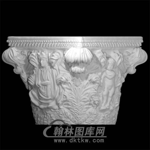 罗马柱头立体圆雕图(LMZ-023)