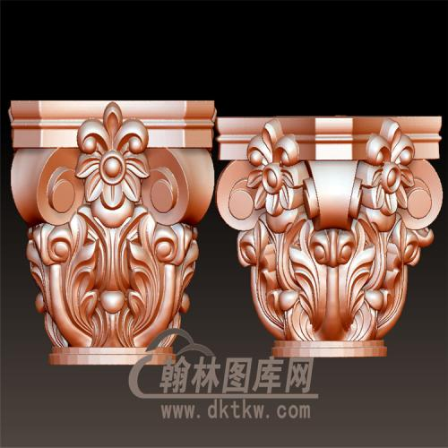 欧式罗马柱柱台柱头立体圆雕图(LMZ-027)
