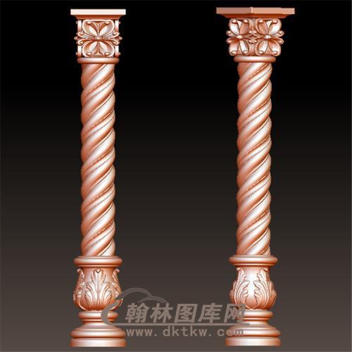 欧式罗马柱柱立体圆雕图(LMZ-028)