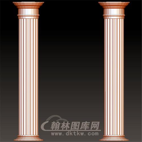 欧式罗马柱立体圆雕图(LMZ-039)