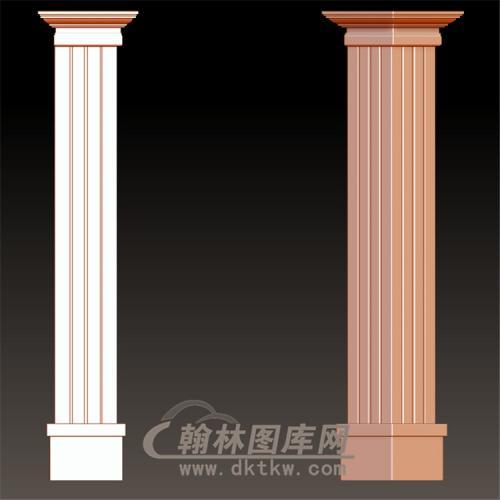 欧式柱子罗马柱立体圆雕图(LMZ-040)