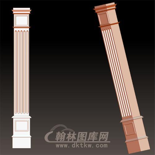 欧式柱子罗马柱立体圆雕图(LMZ-041)