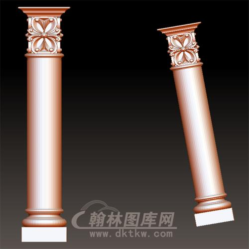 欧式罗马柱立体圆雕图(LMZ-043)