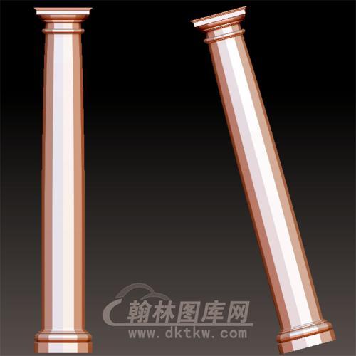 欧式柱罗马柱立体圆雕图(LMZ-044)