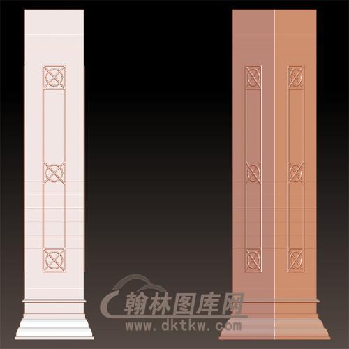 欧式罗马柱立体圆雕图(LMZ-047)