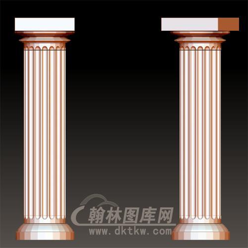欧式柱子罗马柱立体圆雕图(LMZ-048)