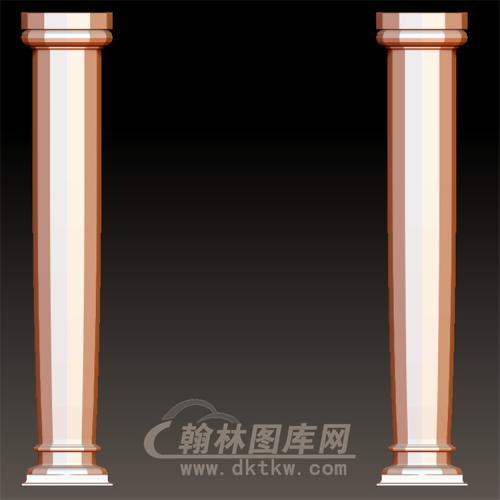 欧式柱罗马柱立体圆雕图(LMZ-049)