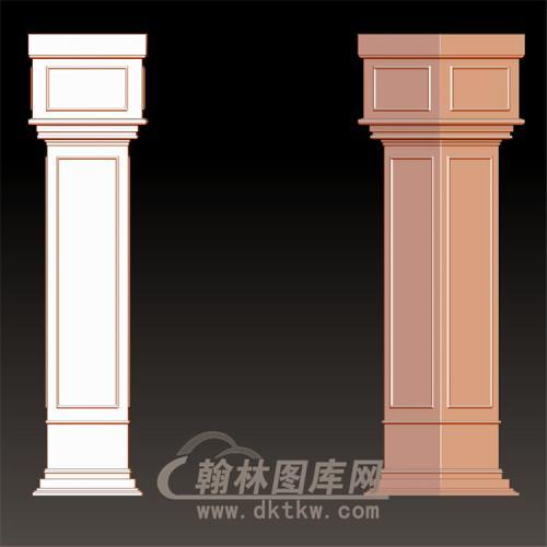 欧式柱方柱罗马柱立体圆雕图(LMZ-050)