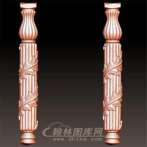 圆雕stl缠洋花楼梯柱罗马柱立体圆雕图(LMZ-051)