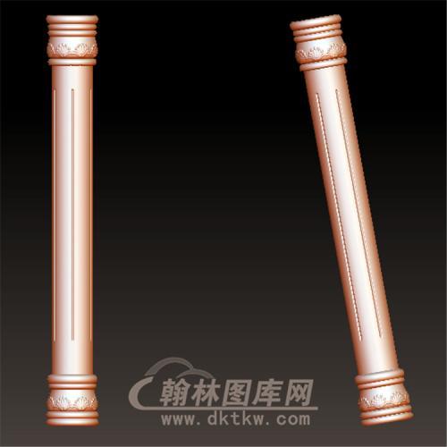 圆雕stl简约欧式楼梯柱罗马柱立体圆雕图(LMZ-053)