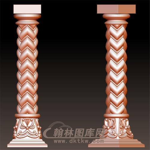 柱子罗马柱立体圆雕图(LMZ-056)