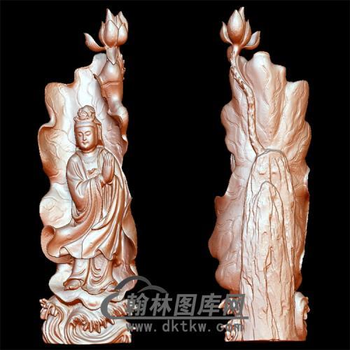 大莲花观音像立体圆雕图(YGY-097)