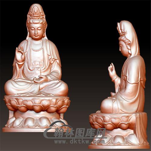 坐莲观音立体圆雕图(YGY-102)