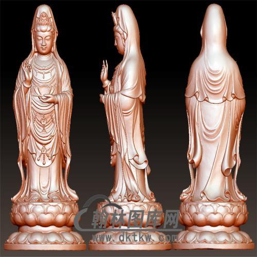 抬手观音立体圆雕图(YGY-139)