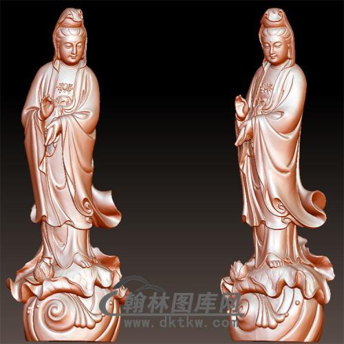 圆雕观音立体圆雕图(YGY-142)