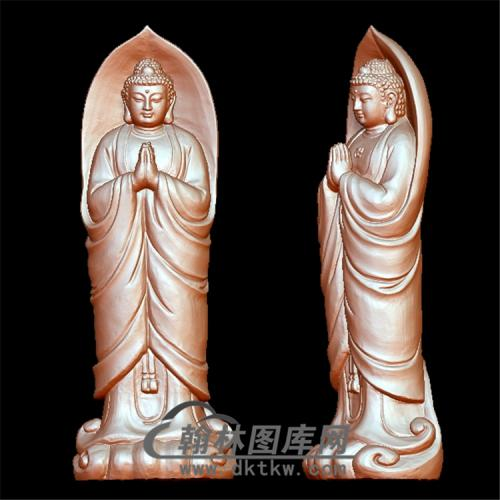 叶释迦佛像立体圆雕图(YFX-003)