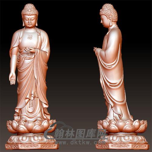 佛像立体圆雕图(YFX-006)