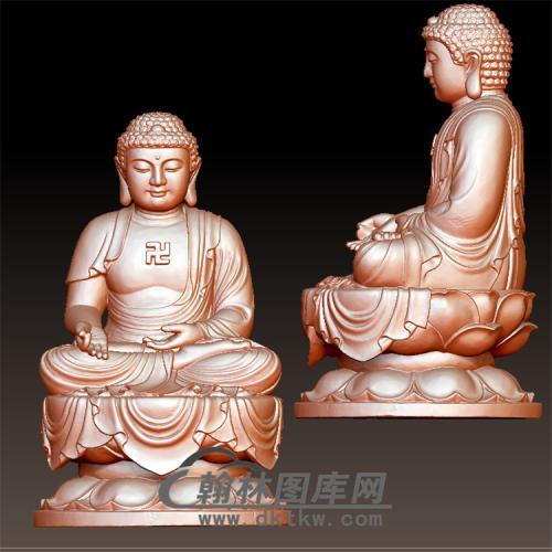 释迦佛像立体圆雕图(YFX-009)
